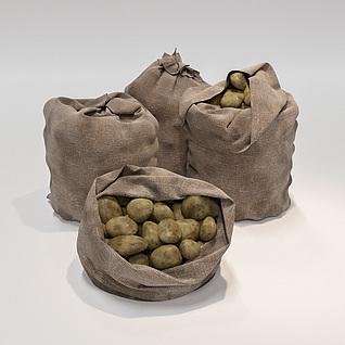 麻袋土豆3d模型