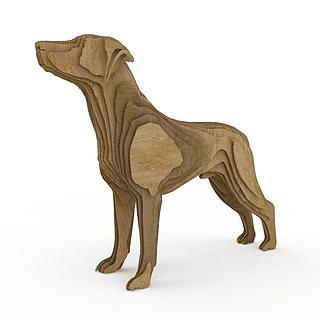 <font class='myIsRed'>狗</font>造型雕塑3d模型