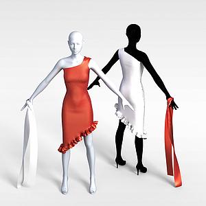 3d商場女人<font class='myIsRed'>模特</font>模型