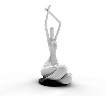 抽象人物陶瓷摆件
