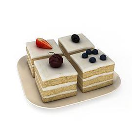 多层奶油<font class='myIsRed'>蛋糕</font>3d模型