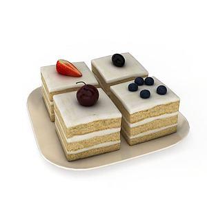 3d多层奶油<font class='myIsRed'>蛋糕</font>模型