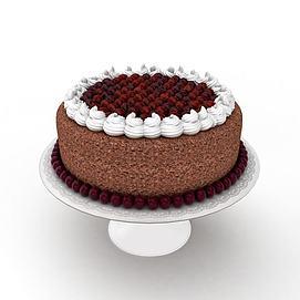 3d巧克力生日蛋糕模型