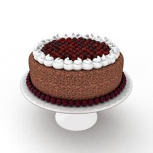 3d巧克力生日<font class='myIsRed'>蛋糕</font>模型
