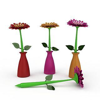 室内装饰花3d模型
