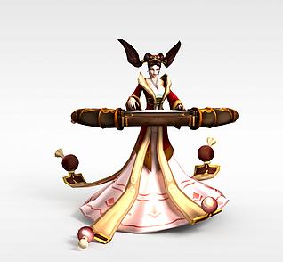 LOL娑娜琴瑟仙女3d模型