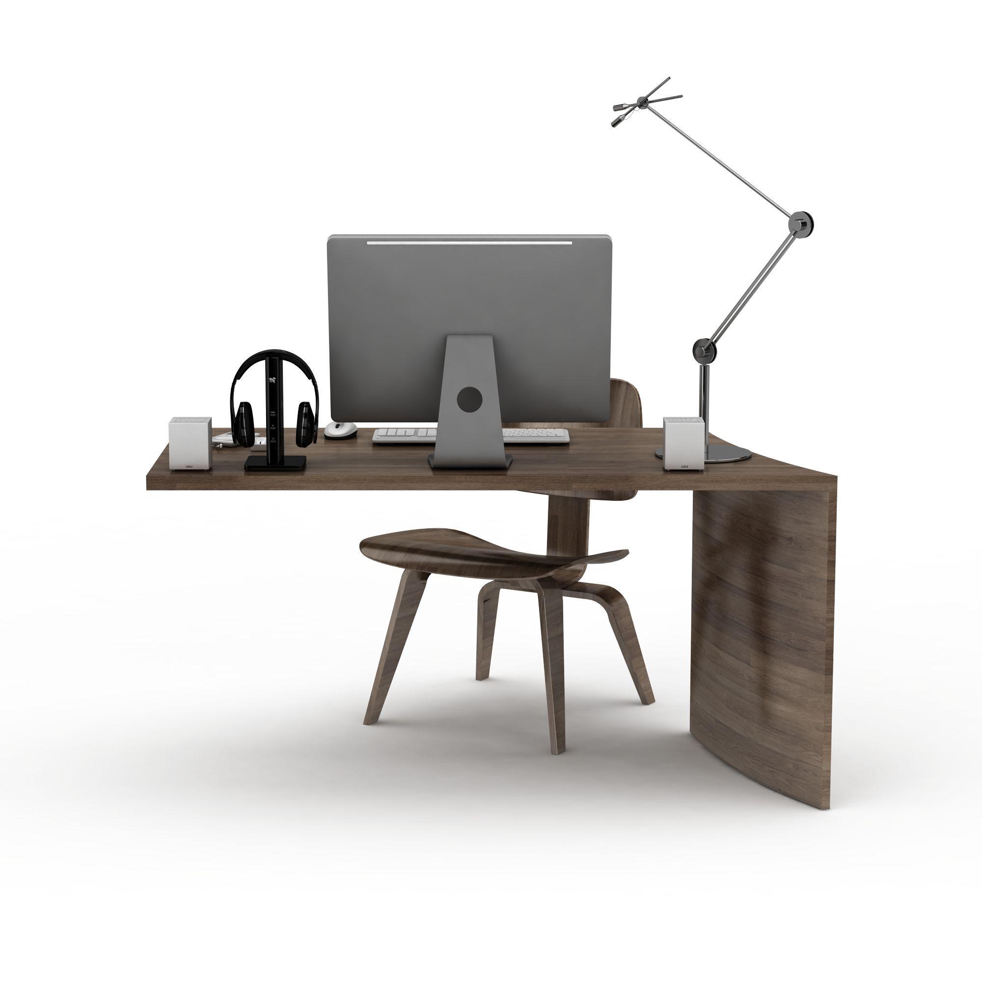 办公电脑桌椅png高清图  办公电脑桌椅高清图详情 设计师 3d学院 模型