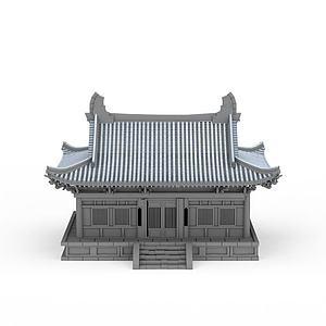 古代民居房屋模型3d模型