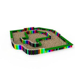 儿童娱乐设备3d模型