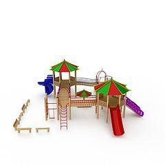 儿童娱乐滑梯模型3d模型