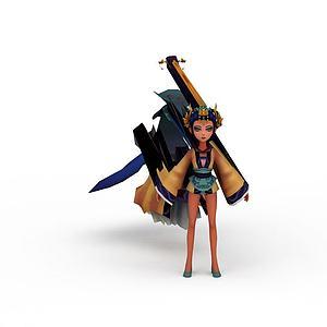 游戲卡通人物模型3d模型