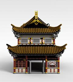 3d<font class='myIsRed'>古建筑</font>游戏场景模型