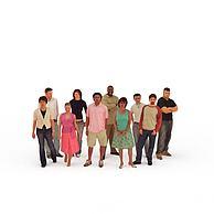 现代人群3D模型3d模型
