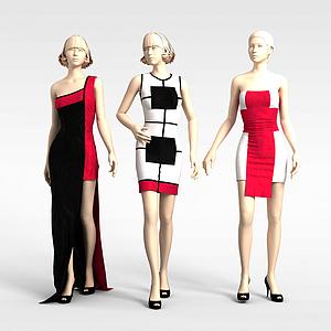 3d<font class='myIsRed'>女装陈列模特</font>模型