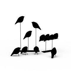 小鸟陈设装饰品模型3d模型