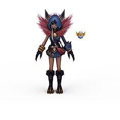 游戏角色小精灵女3D模型3d模型