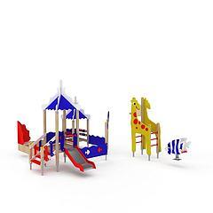 儿童游乐园设备模型3d模型