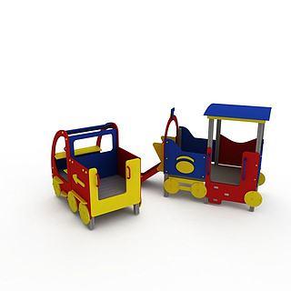 游乐园小火车3d模型