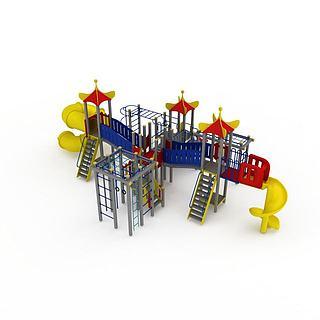 大型儿童游乐园3d模型