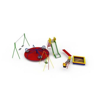 公园儿童娱乐设备3d模型