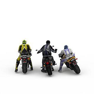 摩托少年车队3d模型