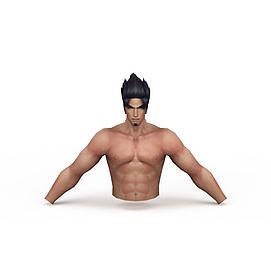 3d游戏角色男人裸体模型