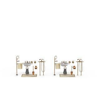 卫浴家具组合3d模型