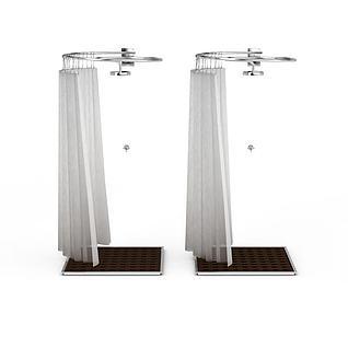 现代淋浴3d模型