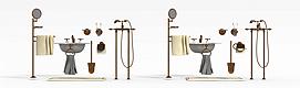 卫浴家具组合模型
