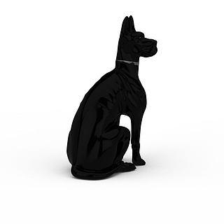 陶瓷<font class='myIsRed'>狗</font>装饰品3d模型