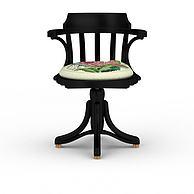 现代中式转椅3D模型3d模型