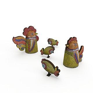 <font class='myIsRed'>儿童玩具</font>鸡3d模型