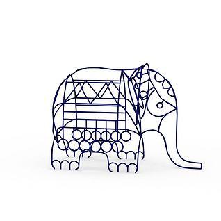 线形大象3d模型