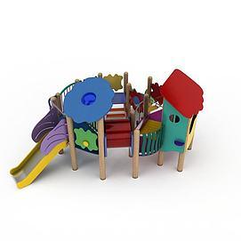 儿童娱乐滑梯模型