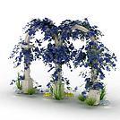 大理石园林拱门模型