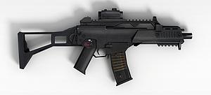 3dCOD5戰斗沖鋒槍模型