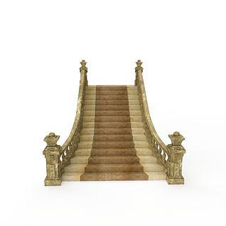 大理石楼梯3d模型