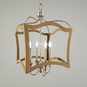 現代時尚吊燈模型