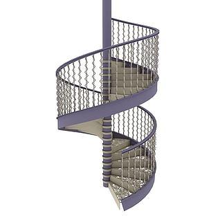 室内螺旋楼梯3d模型