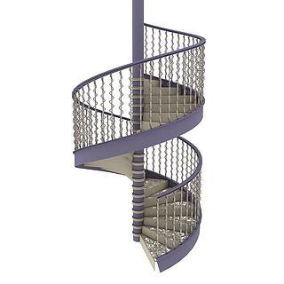 室内螺旋<font class='myIsRed'>楼梯</font>3d模型