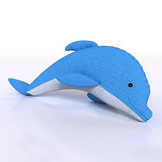 海豚布偶3d模型