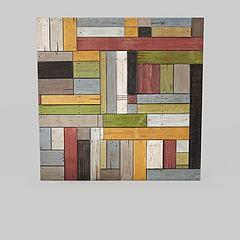 时尚实木墙饰模型3d模型