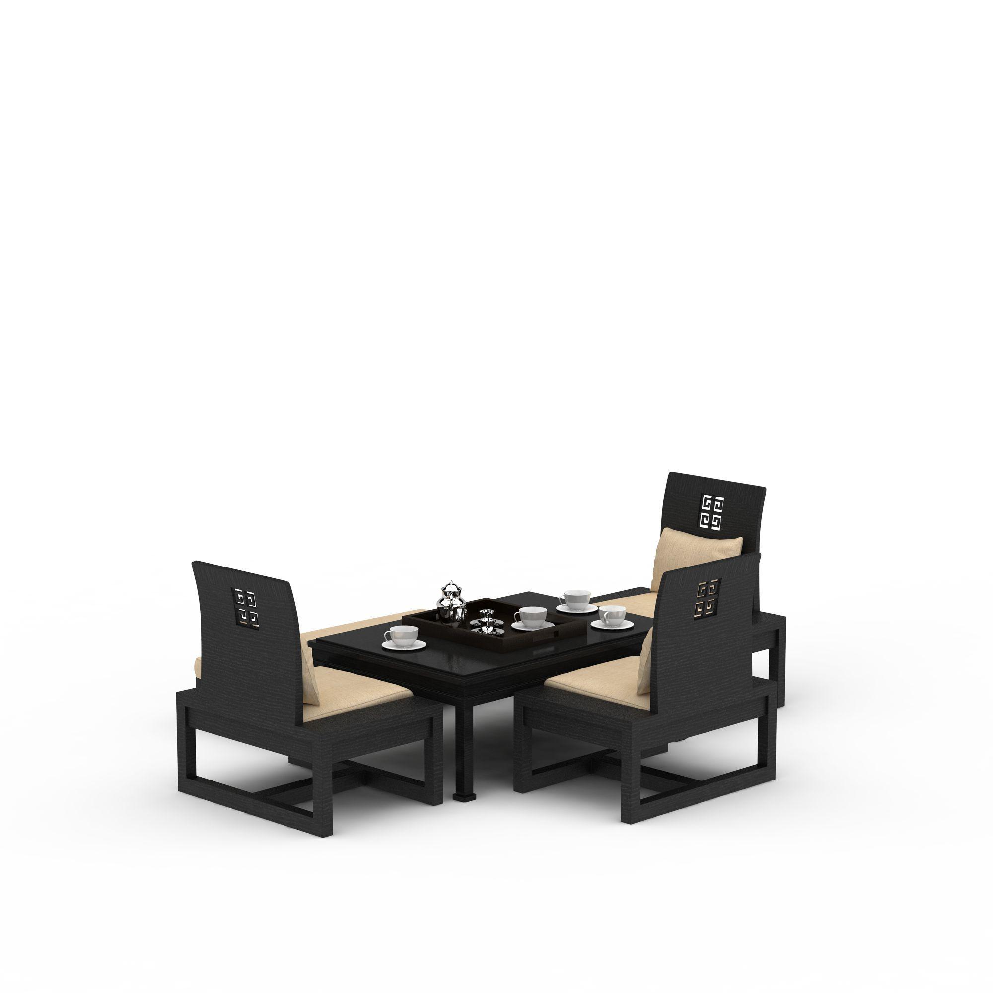 新中式沙发茶几组合高清图下载图片