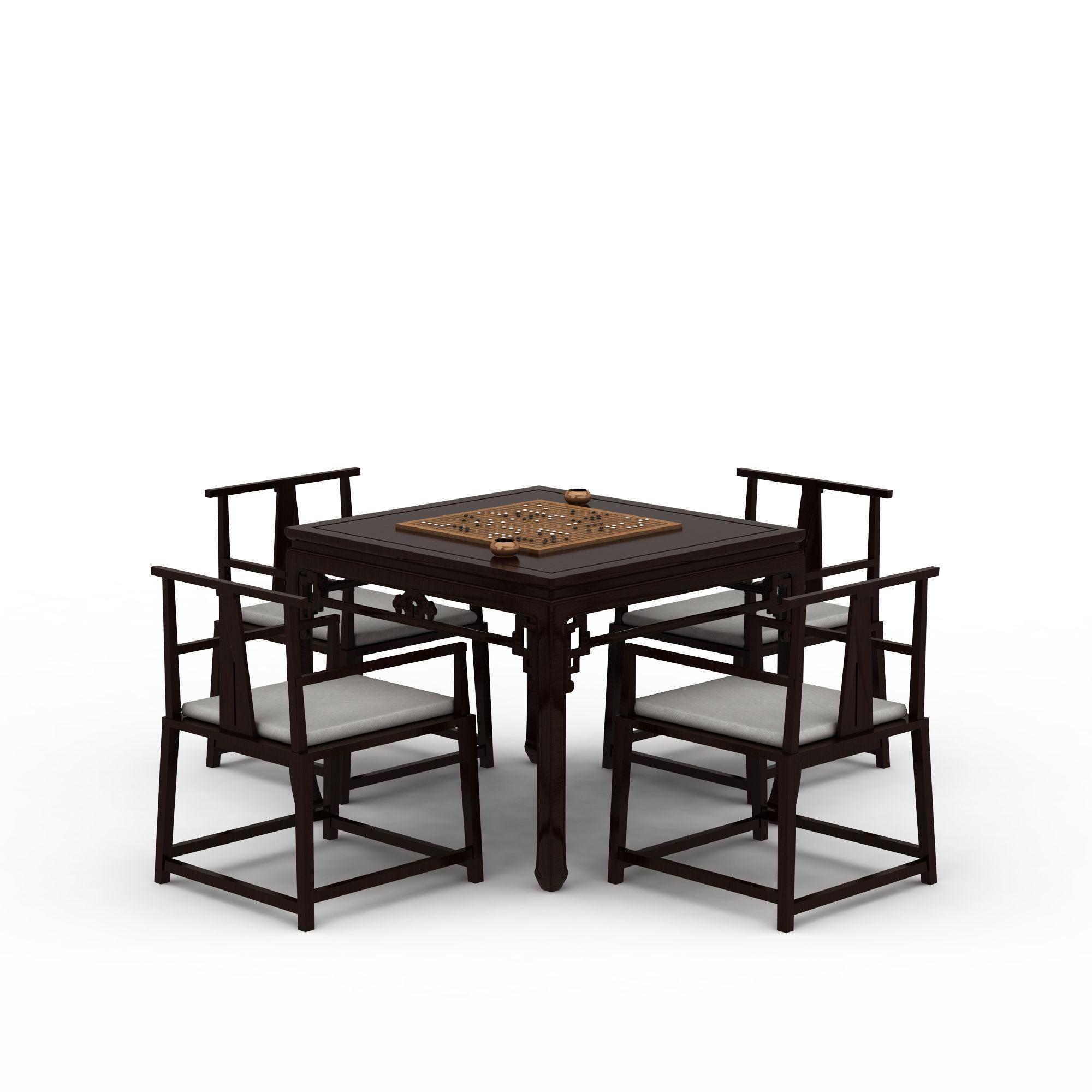 新中式桌椅组合图片_新中式桌椅组合png图片素材_新图图片