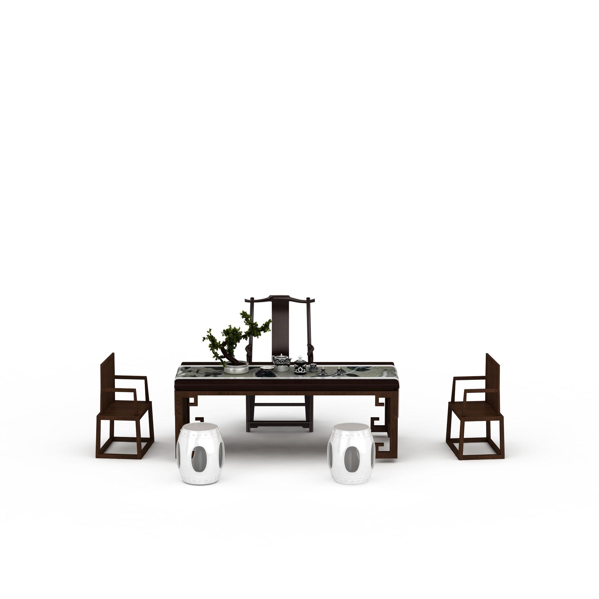 新中式桌椅组合png高清图  新中式桌椅组合高清图详情 设计师 3d学院