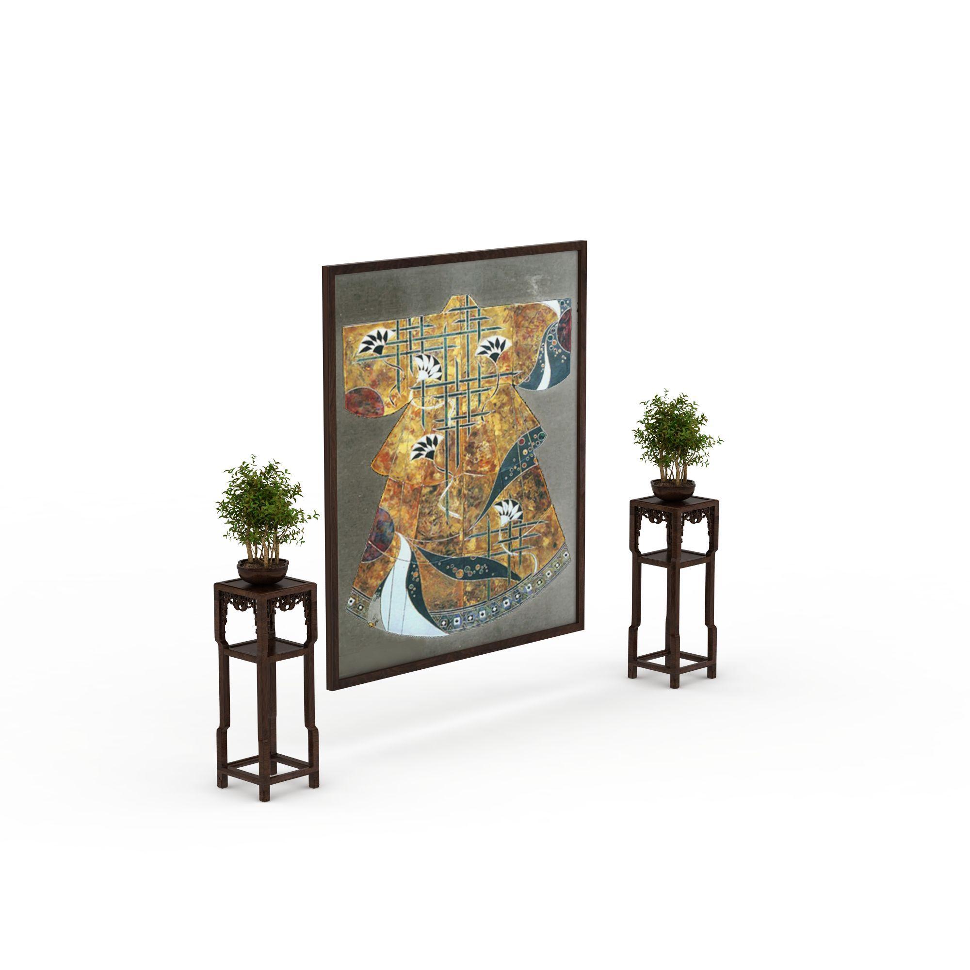 新中式花架图片_新中式花架png图片素材_新中式花架图图片