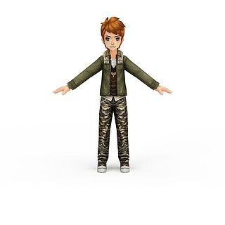 QQ飞车游戏人物3d模型