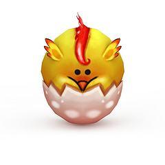 卡通小鸡模型3d模型