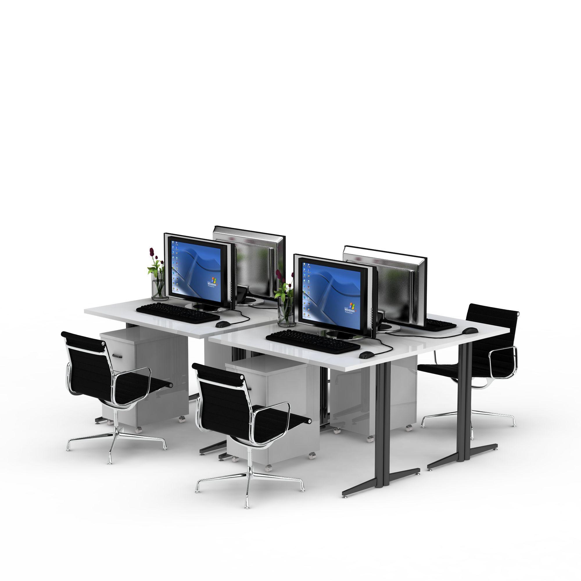 办公桌椅组合png高清图  办公桌椅组合高清图详情 设计师 3d学院 模型