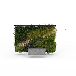 绿植装饰墙3d模型